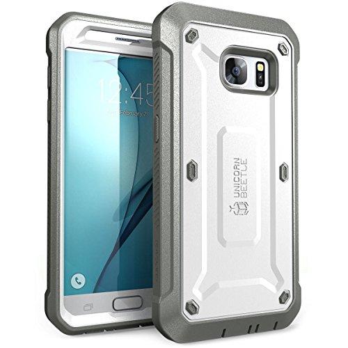 SUPCASE Galaxy S7 Hülle Unicorn Beetle PRO Ganzkörper Case Robust Handyhülle Stoßfest Schutzhülle mit eingebautem Displayschutz und Gürtelclip, Weiß