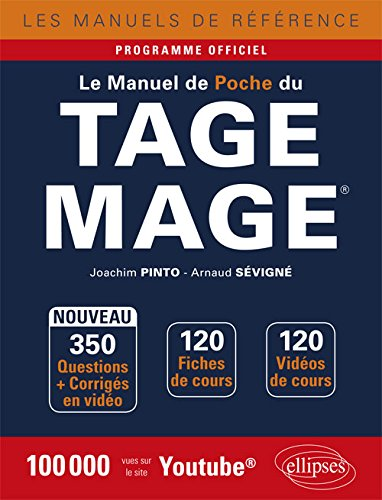 Le Manuel de poche du Tage Mage - 120 fiches de cours, 350 questions + corrigs en vido