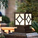 WSXXN Rasen Lampe Im Freien Wasserdichte Glassäule Kopf Licht Quadratisch Einfache Prismatische Säule Garten Landschaft Licht Villa Park Torpfosten Lichter Straßenlaterne
