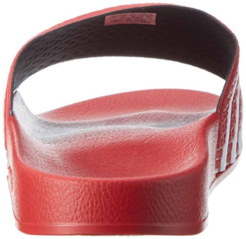 adidas Adilette Ciabatte Unisex – Adulto Rosso (Light Scarlet/White/Light Scarlet)