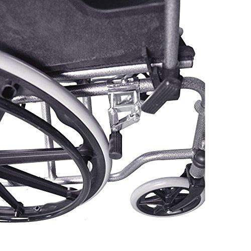 51m8PeKUOML - Silla de ruedas | Plegable | Ruedas grandes | Ortopédica | Reposabrazos abatibles | Negro | Giralda | Mobiclinic