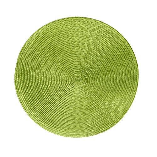 Tischsets Platzsets MARRAKESCH Rund im 4er-Set, Ø 38 cm, grün