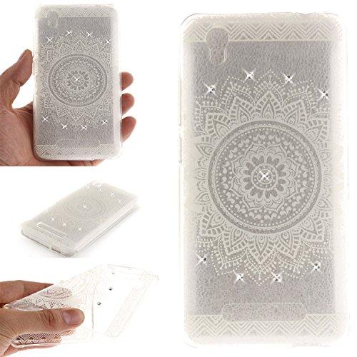 Qiaogle Téléphone Coque - Soft TPU Silicone Housse Coque Etui Case Cover pour Apple iPhone 5 / 5G / 5S / 5SE (4.0 Pouce) - TX96 / Blanc Mandala TX94 / Blanc Fleur