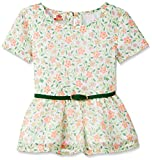 UFO Girls' Blouse Shirt (SS16-WF-GKT-718_White Pinted_4 - 5 years)