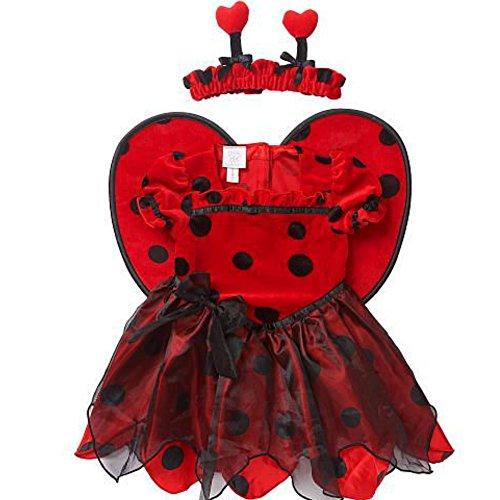 enkäfer Lady Bug Fasching Halloween Karneval Kostüm (74-80) (Marienkäfer Halloween-kostüm Für Baby)