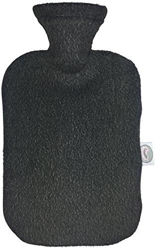 Larovita Wärmflasche mit Bezug waschbar flauschig 2 L fashy TÜV Süd geprüft Baby Kinder Bettflasche geruchsfrei (dunkelgrau)