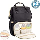 Voroly Diaper Bag Backpack Waterproof Large Capacity Insulation Travel Back Pack Nappy Bags Organizer, Multi-Function, Fashion and Durable