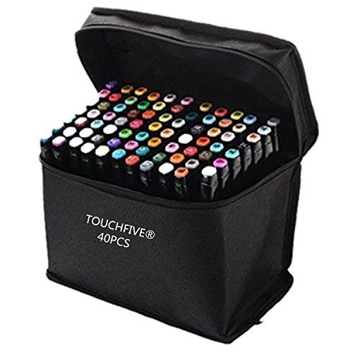 touchfiver-markers-lot-de-40-marqueurs-peinture-de-double-pointes-1mm-6mm-brush-dans-un-sacconceptio