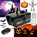 Atmotech 400W Halloween Fog Smoke Machine With Smoke Fluid Bundle