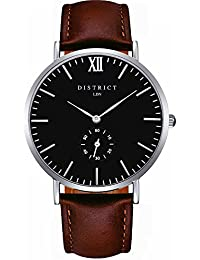 Masters Edition- Ultra Slim Men's Watch - Quartz Luxury Black Sub Dial Analogue Display and Leather Strap - Classic Design Casual Dress Watch, Waterproof Wristwatch with Stainless Steel Case.