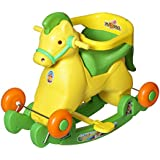 Archana Supreme 2 In 1 Green Horsey Rocker Cum Ride On Toy For Kids - Green