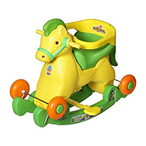 Dash Plastic Archana Supreme 2-in-1 Horsey Rocker/Ride-on Toy for Kids (Green)