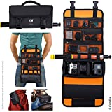 CamKix Roll-Out Bag with Waist Shoulder Strap for GoPro Hero Other Action Compact Cameras - Multiple Carry Options Hand Shoulder Waist Back - Smart Case Layout - Adjustable Main Compartment