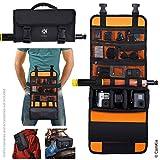 CamKix sac déployable à sangle d'épaule/ceinture compatible avec GoPro Hero et d'autres caméras d'action/compact - Options de transport multiples (main, épaule, taille, dos)