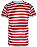 Search : RockBerry© Men's Boys Red & White Striped T-Shirts Top and Tees