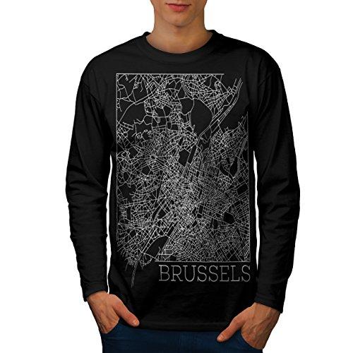belgium-brussels-map-big-town-men-new-black-m-long-sleeve-t-shirt-wellcoda