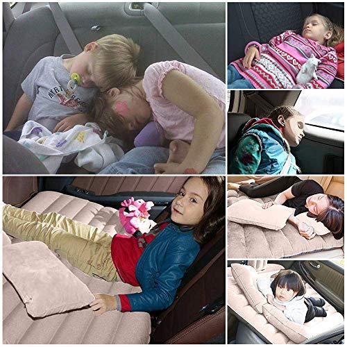 Tishnagi Designer Multifunctional Inflatable Car Bed Mattress with Two Air Pillows, Car Air Pump and Repair Kit (Multi Coloration) Image 8