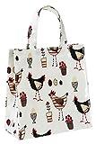 Cooksmart Kleine Segeltuch - Tasche mit Hühner - Motiv, Mehrfarbig