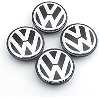 Juego de 4tapacubos con logo Volkswagen VW Tapones Círculos Wheels de 65mm para Golf Polo BEETLE Fox