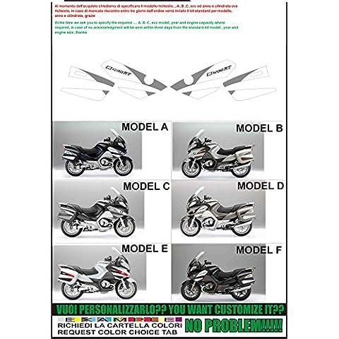 Kit adesivi decal stikers bmw r1200 rt 2010 special edition (possibilità di personalizzare i colori)