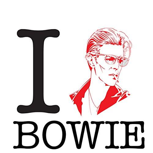 I Heart David Bowie Men's Baseball Long Sleeved T-Shirt White/Black
