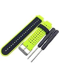 For Garmin Forerunner 220 230 235 630 620 , Transer® Reloj de muñeca de silicona suave banda de reemplazo para Garmin Forerunner 220 230 235 630 620 (E)
