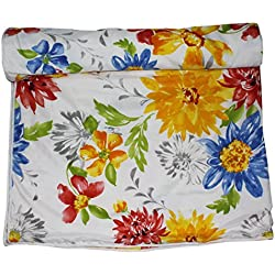 Frabjous Floral Print Polycotton Double Bed Reversible AC Dohar/Blanket/Quilt (Multi) Diwali Gift for Home