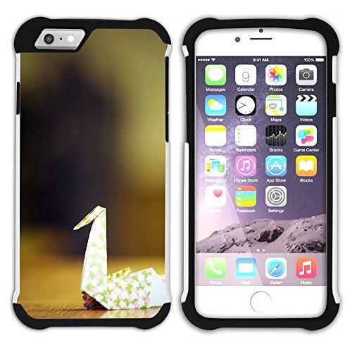 Graphic4You Origami Japanisch Kunst Hart + Weiche Kratzfeste Hülle Case Schale Tasche Schutzhülle für Apple iPhone 6 Plus / 6S Plus Design #18