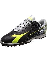 Diadora Da Uomo 7 Tri Tf FOOTBAL scarpe fluo giallo/fluo blu/nero 9.5 UK