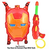 #5: Zest 4 Toyz Holi Water Gun with High Pressure Holi Pichkari with Back Holding Tank, Holi 6.5 Litre -Ironman Face