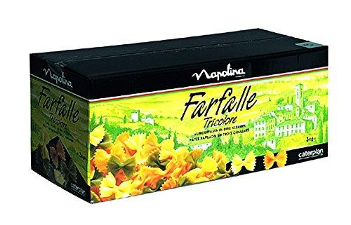 Knorr Farfalle Tricolore Schmetterlingsnudeln 3 kg, 1er Pack (1 x 3 kg) - 1 Pack Tri-color