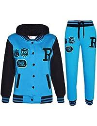eef84e3b3af37 A2Z 4 Kids® Enfants Filles Garçons Baseball Survêtement NYC Fox Veste    Pantalons des Sports Sweat À Capuche Pantalons Jogging Costume…