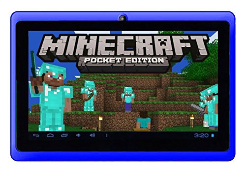 "Price comparison product image Google Android 7"" Tablet PC featuring Minecraft (Blue)"