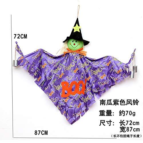 MSSJ - Campanillas Viento Colgantes Halloween, espantapájaros