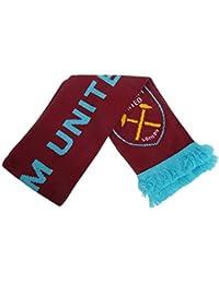 5e76a33ed78a1 West Ham FC - Bufanda oficial de punto Modelo Crest - Fútbol