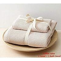 PWTY Baño Familiar 2Pcs / 1Set 100% Toalla De Algodón Set Premium Toalla De Baño Familiar para Hombre Y Mujer, 1393150
