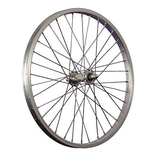 Taylor-Wheels Laufrad 20 Zoll Vorderrad Büchel Aluminiumfelge Vollachse silber