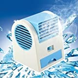 JiaQi Mini Aria condizionata,Mini condizionatore ventilatore,Usb Portatile Refrigerador de aire de sola Desktop Ufficio Home Raffreddamento-Blu 10x11x13cm(4x4x5inch)