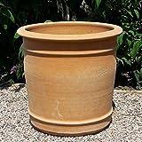 Kreta Keramik handgefertigter Terracotta Blumen Topf Pflanzgefäß, absolut frostfest, Übertopf zum Bepflanzen für den Innen- und Außenbereich, Canna (50 cm)