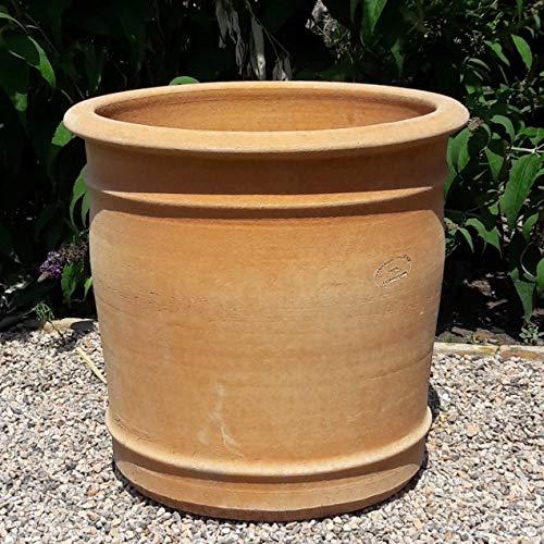 Kreta Keramik handgefertigter Terracotta Blumen Topf Pflanzgefäß, absolut frostfest, Übertopf zum Bepflanzen für den Innen- und Außenbereich, Canna (50 cm) - Großer Keramik-topf