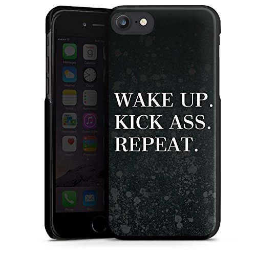 Apple iPhone X Silikon Hülle Case Schutzhülle Fitness Motivation Spruch Hard Case schwarz