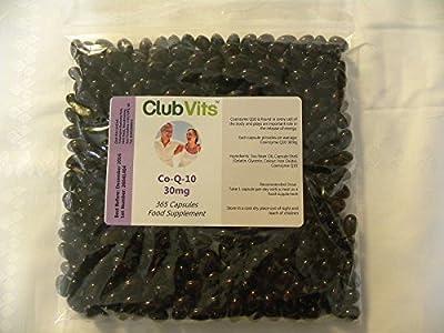 Club Vits Co Enzyme Q10 30mg - 365 Capsules GRIP SEAL BAG by Club Vits