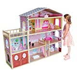 Kiddi Style Wooden Huge Modern Villa Dolls House with Furniture