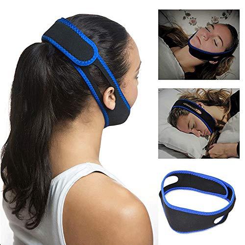 Rishx Deje de roncar las máscaras protectoras del engranaje, la correa anti-ronquidos de la mordaza detiene la respiración pesada, la ayuda cómoda y ajustable del dispositivo de alivio suave, duerma mejor