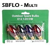 Spare Bulbs - Christmas Direct Garden Fairy Lights - Multi Coloured Bulbs