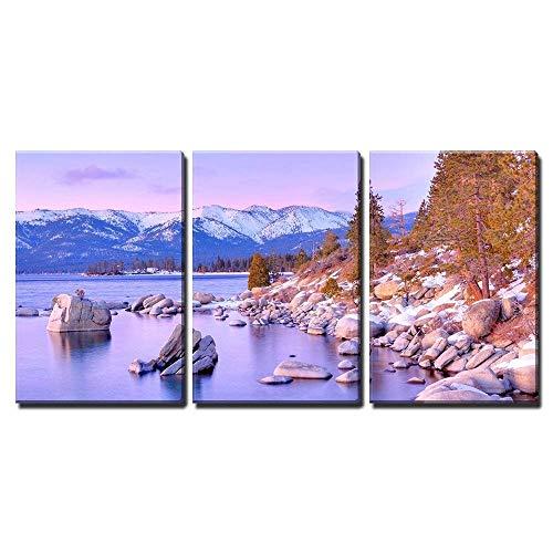 ksjdjok Leinwand Wandkunst Lake Tahoe Modern Home Decor 40X60Cm 3 Stück Rahmenlos