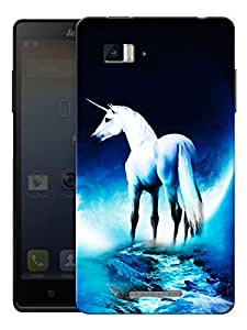 "Humor Gang Unicorn Horse Scenery Printed Designer Mobile Back Cover For ""Lenovo Vibe P1"" (3D, Matte Finish, Premium Quality, Protective Snap On Slim Hard Phone Case, Multi Color)"