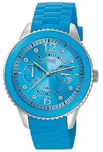 Esprit Damen-Armbanduhr Marin 68 Speed Turquoise Analog Quarz Silikon ES105332014