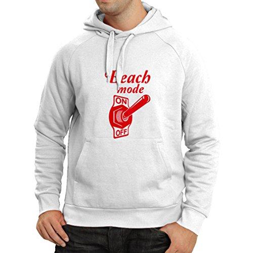 Kapuzenpullover Strand-Modus auf Unisex T-Shirt (XXX-Large Weiß Rote)