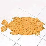 Rutschfeste Badematte,Stillshine Antirutsch Badematte für Kinder Umweltschutz PVC Niedlich Fisch Entwurf Massage Dusche Auflage Baby Badematte mit Saugnäpfen